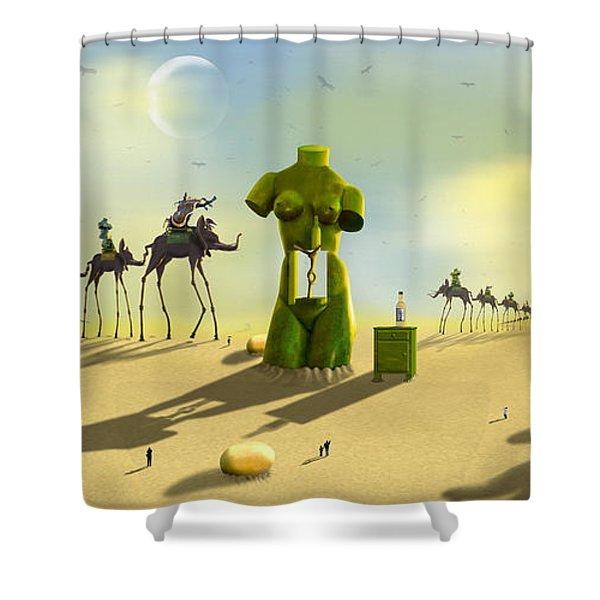 Daliland Park - Panoramic Shower Curtain