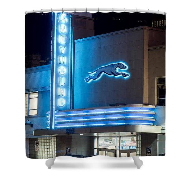 Dallas Greyhound V2 020915 Shower Curtain