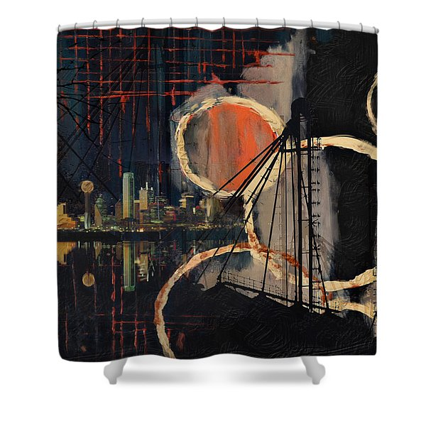 Dallas Skyline 002 Shower Curtain