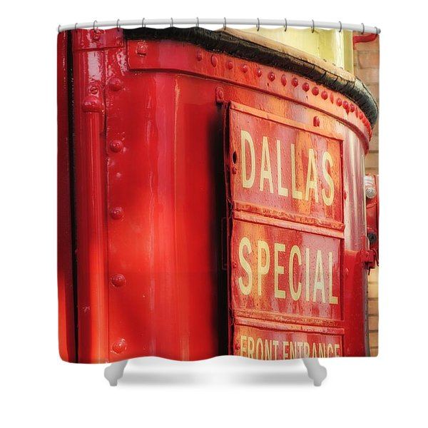 Dallas Special Front Entrance Shower Curtain