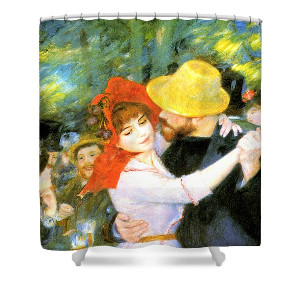 Dance At Bougival Detail Shower Curtain