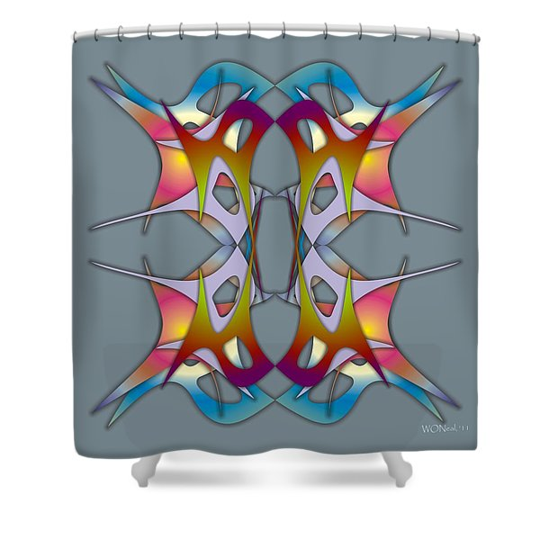 Dance Electric 3 Shower Curtain