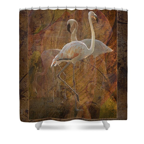 Dance Of The Flamingos Shower Curtain