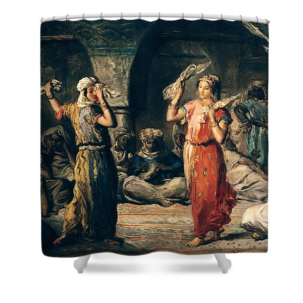 Dance Of The Handkerchiefs, 1849 Oil On Panel Shower Curtain