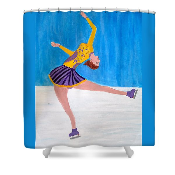 Dance On Ice Shower Curtain