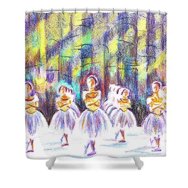 Dancers In The Forest Shower Curtain