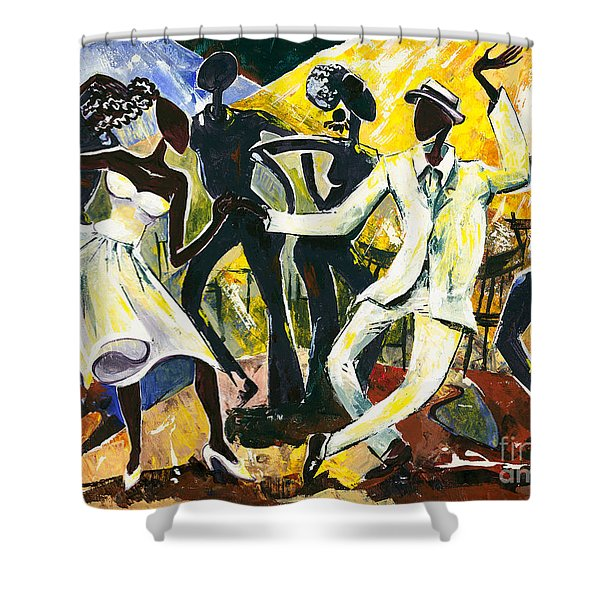 Dancers No. 1 - Saturday Nights Out Shower Curtain