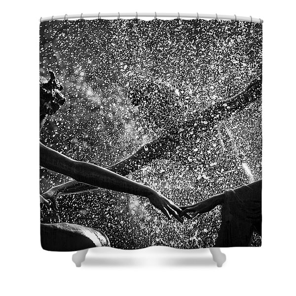 Dancing Girls Of Central Park Shower Curtain