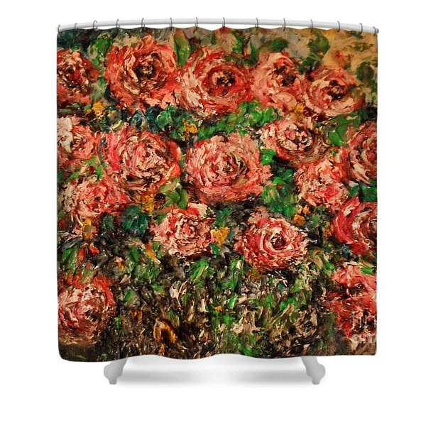 Dancing Red Roses Shower Curtain