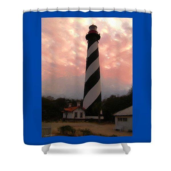 Da127 St. Augustine Lighthouse By Daniel Adams Shower Curtain