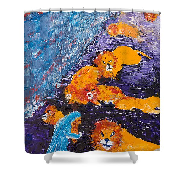 Daniel And The Lions Shower Curtain