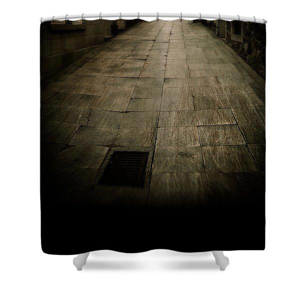 Dark Alley In Old Historic City Shower Curtain