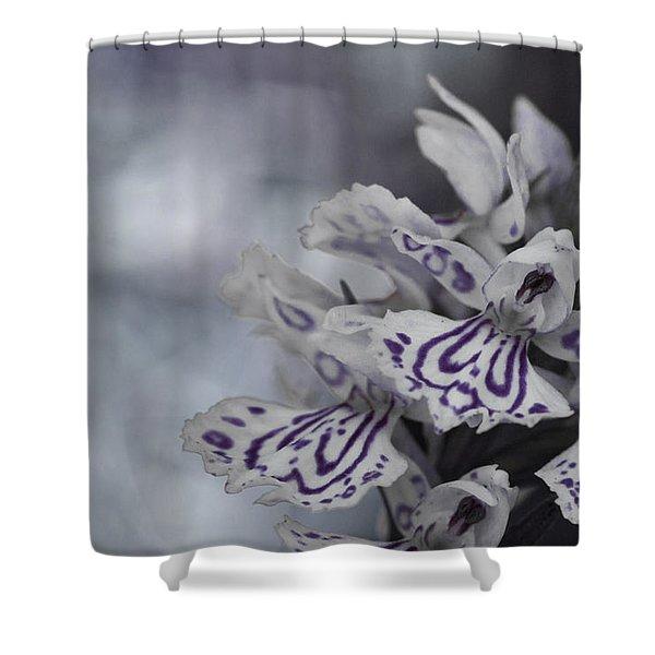 Dark Angel Of Flowers Shower Curtain
