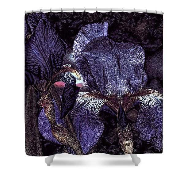Dark Bearded Beauties Shower Curtain