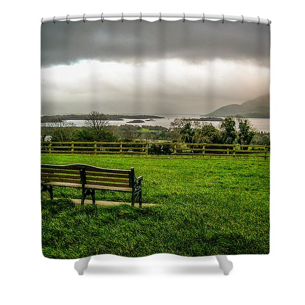 Dark Clouds Over Killarney Lakes Shower Curtain