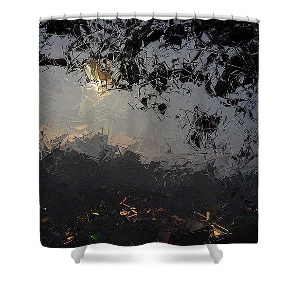 Dark Rain Shower Curtain