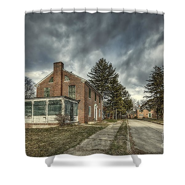 Darkened Days To Come Shower Curtain