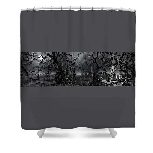 Darkness Has Crept In The Midnight Hour Shower Curtain