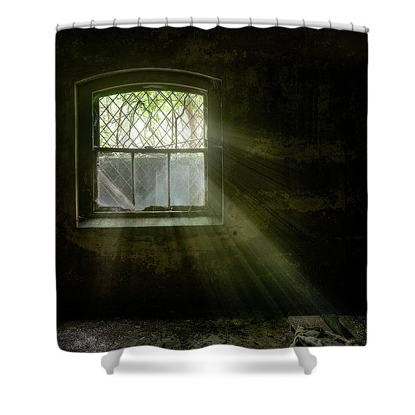 Darkness Revealed - Basement Room Of An Abandoned Asylum Shower Curtain