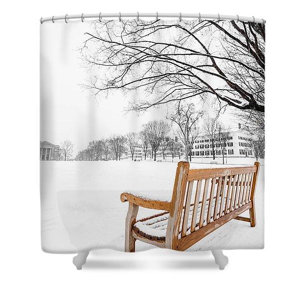 Shower Curtain featuring the photograph Dartmouth Winter Wonderland by Edward Fielding