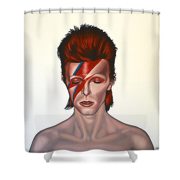 David Bowie Aladdin Sane Shower Curtain