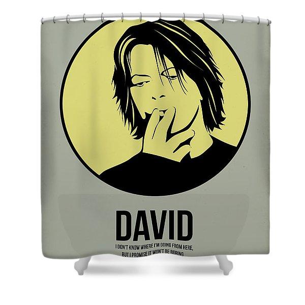 David Poster 4 Shower Curtain