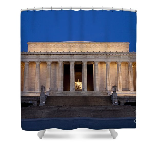 Shower Curtain featuring the photograph Dawn At Lincoln Memorial by Brian Jannsen