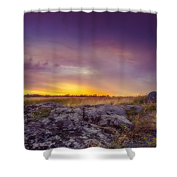 Dawn At Steppe Shower Curtain