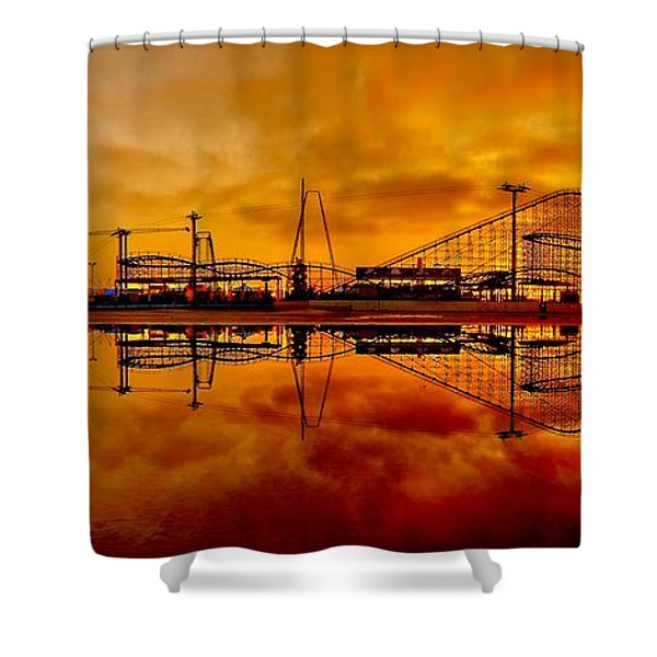 Dawn At Wildwood Pier Shower Curtain