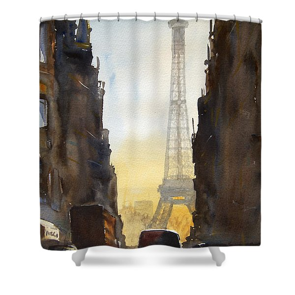 Dawn In Paris Shower Curtain