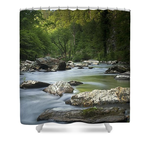 Daybreak In The Valley Shower Curtain