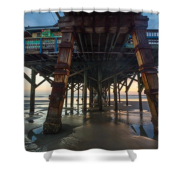 Daytona Beach Shores Pier Shower Curtain