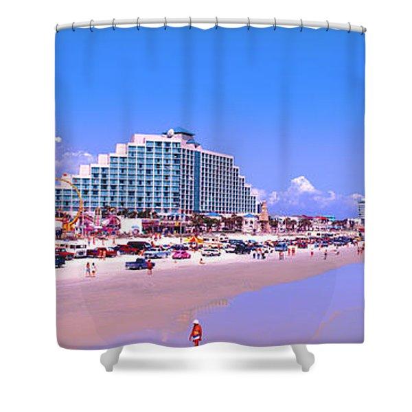 Daytona Main Street Pier And Beach  Shower Curtain