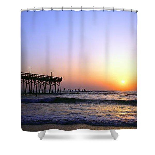 Daytona Sun Glow Pier  Shower Curtain