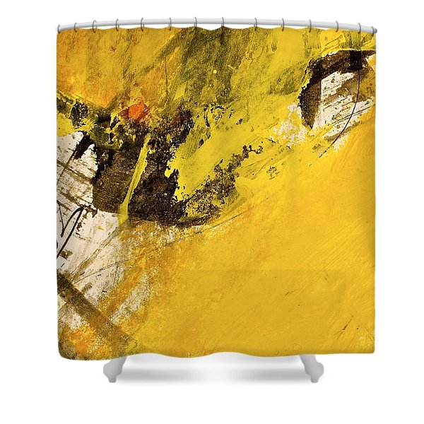 Shower Curtain featuring the painting Dazed Days Of Purple Haze by Cliff Spohn