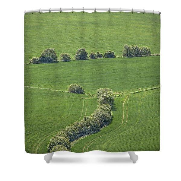 Dazzling Green Shower Curtain