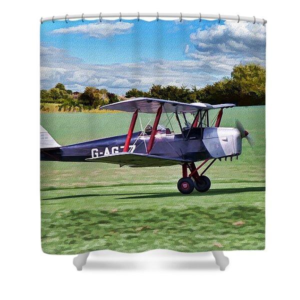 De Havilland Tiger Moth 2 Shower Curtain