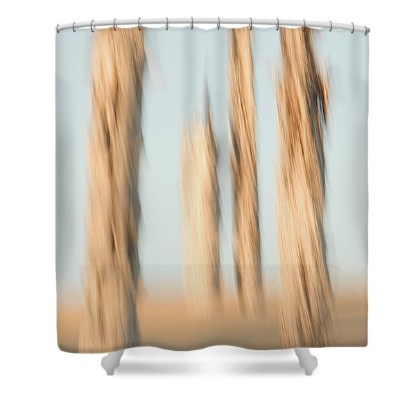 Dead Conifer Trees In Sand Dunes Shower Curtain