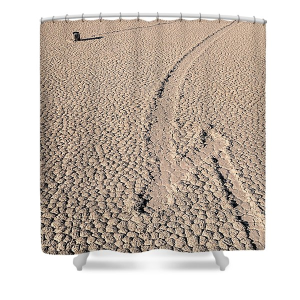 Death Valley Racetrack California Shower Curtain
