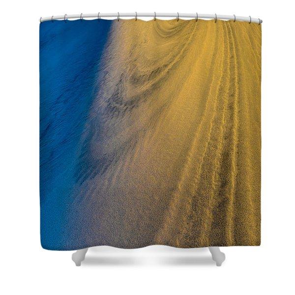 Death Valley Sunset Dune Wind Spiral Shower Curtain