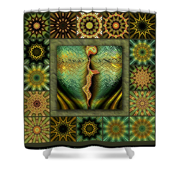 Decaying Moon Redux Shower Curtain