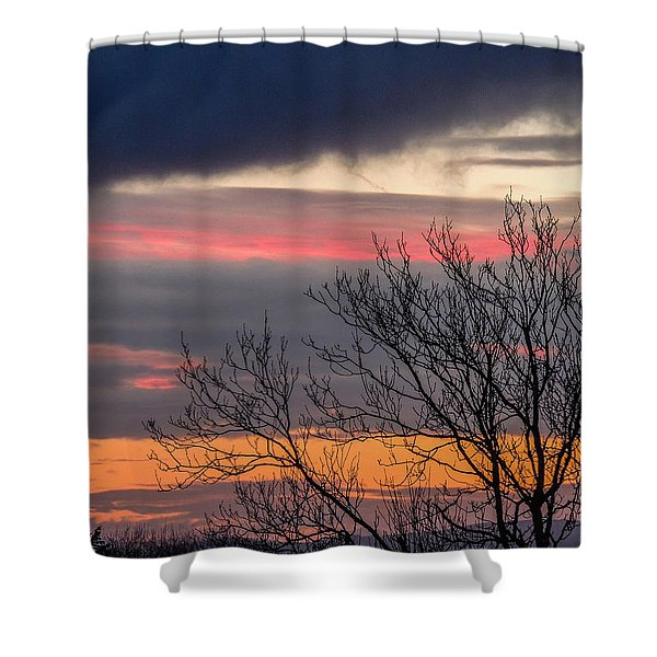 December County Clare Sunrise Shower Curtain