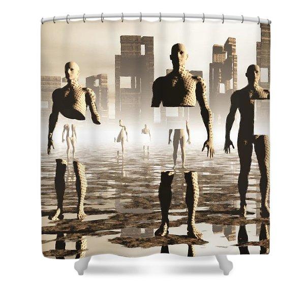Deconstruction Shower Curtain