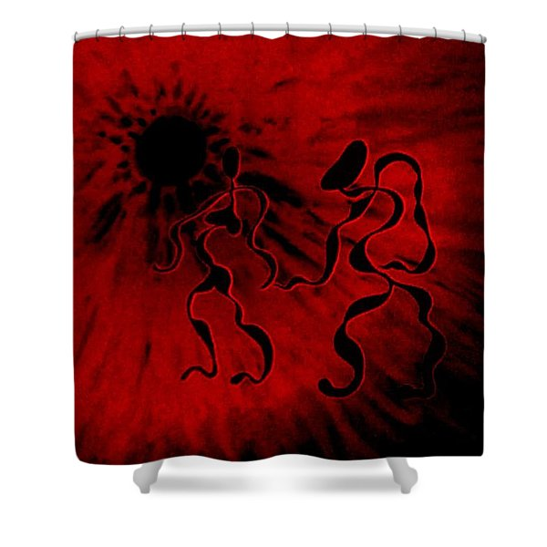 Deep Burning Passion Shower Curtain