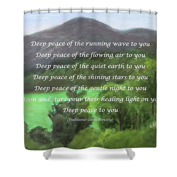 Deep Peace With Ct River Valley Shower Curtain