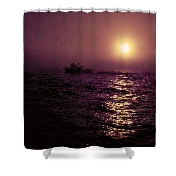 Deep Sea Fishing Off West Port Wa II Shower Curtain