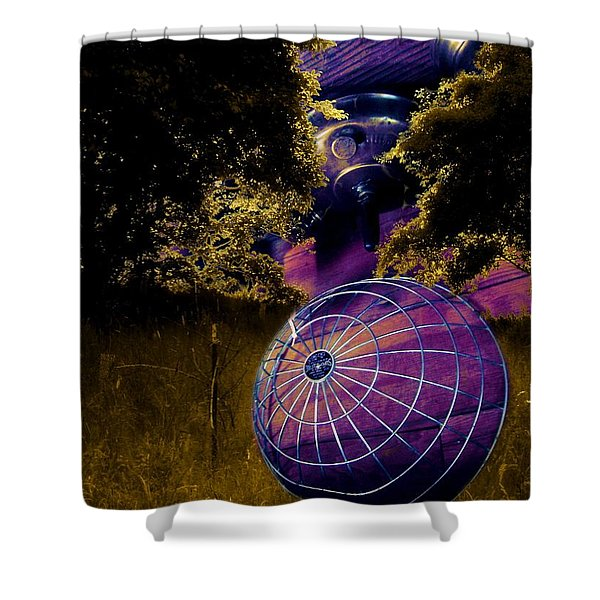 Deer In A Cage Shower Curtain