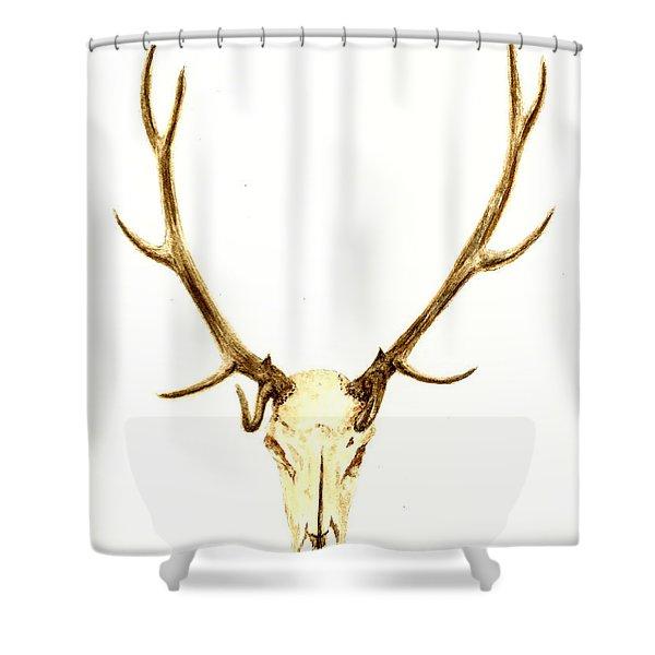 Deer Skull Shower Curtain