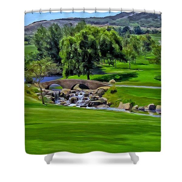 Del Mar Country Club Shower Curtain