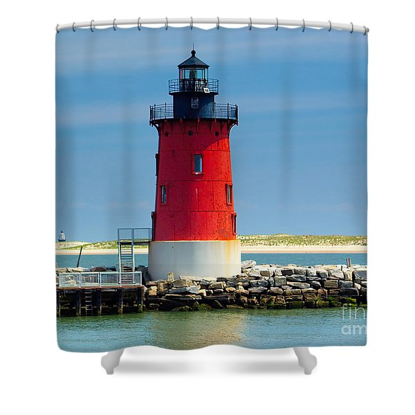 Delaware Breakwater Lighthouse Shower Curtain